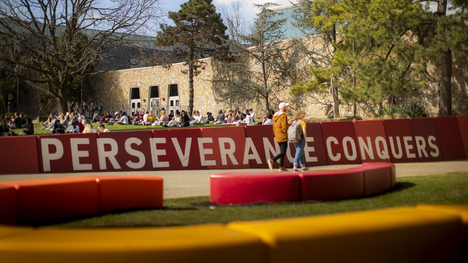 Perseverance conquers wall on campus