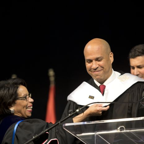Cory Booker receiving honorary degree