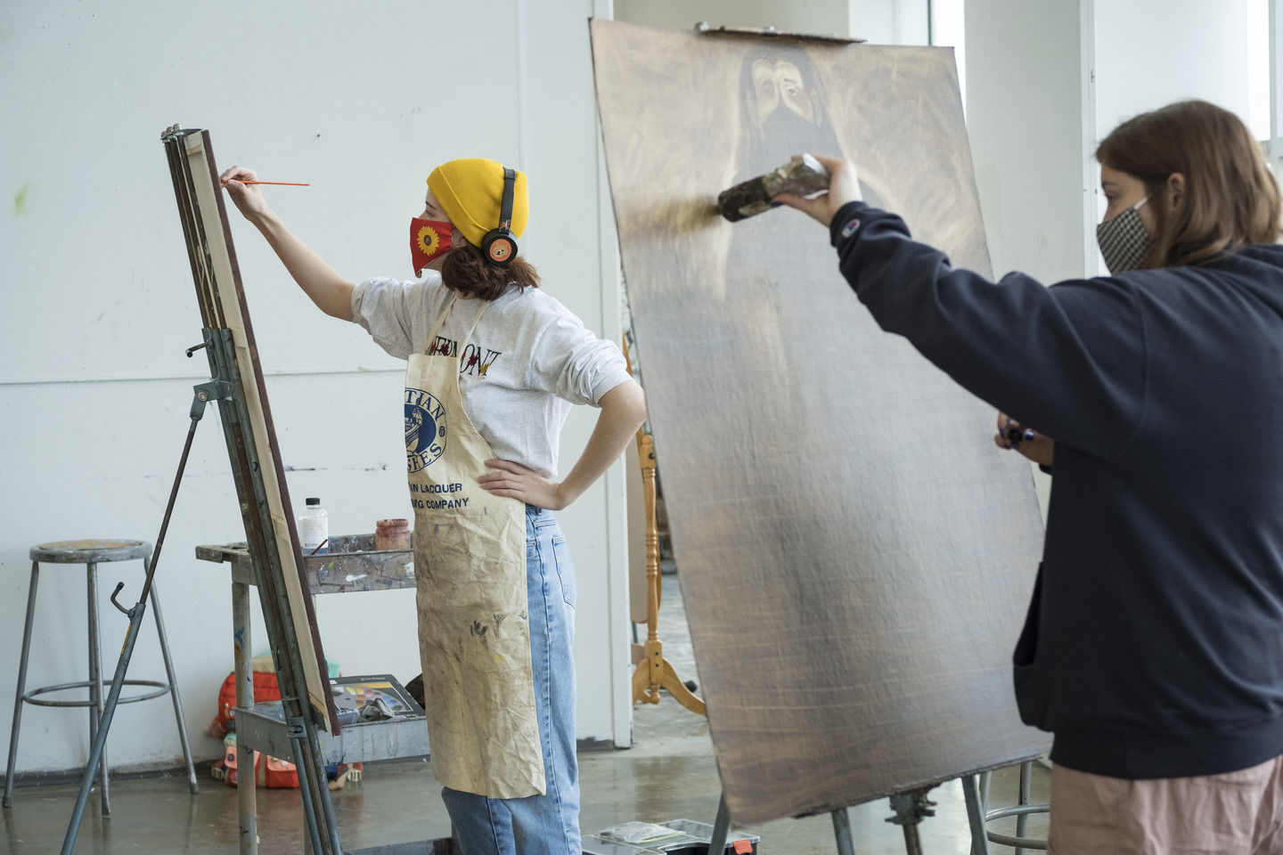 Tyler School of Art and Architecture students in Painting Studio