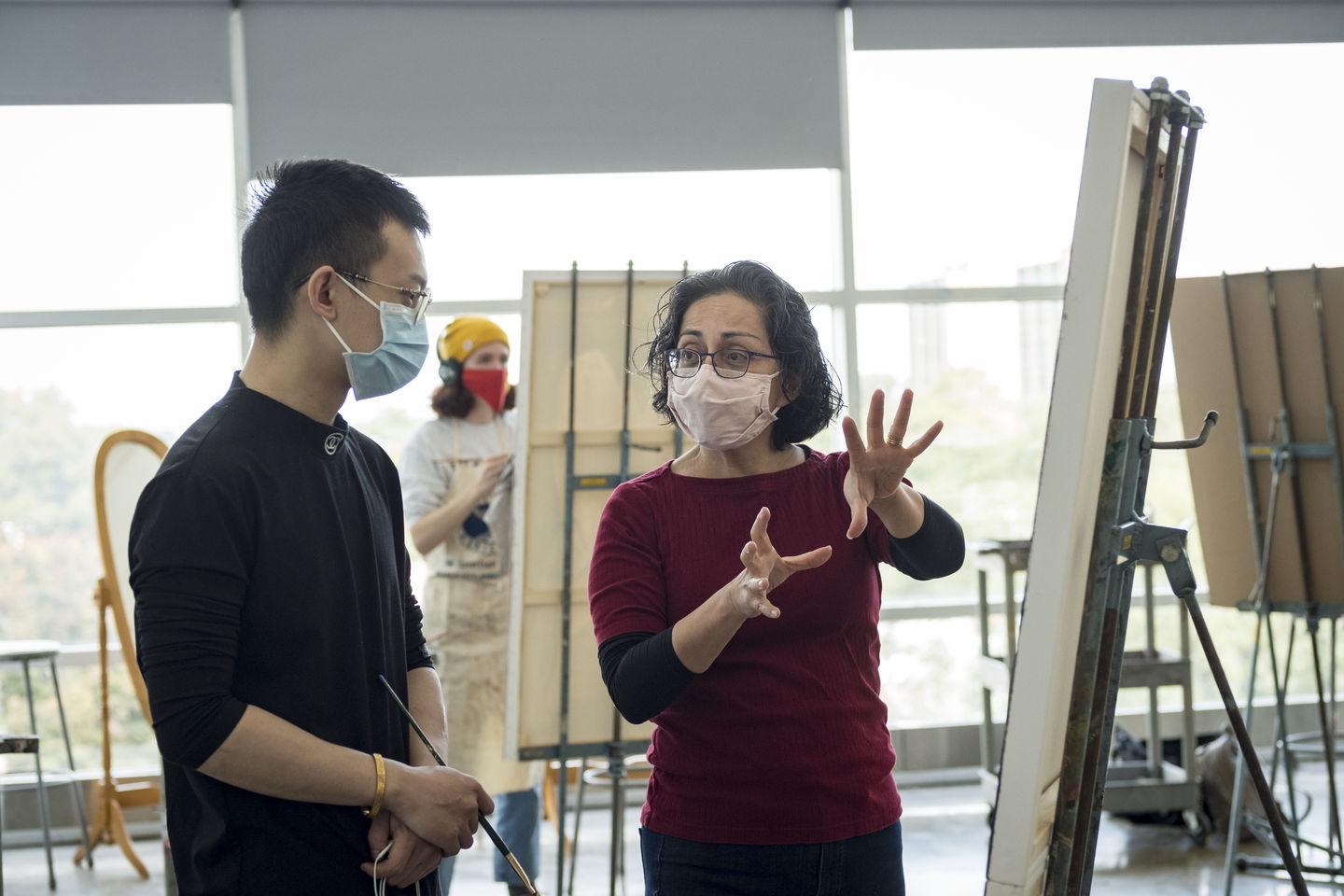 Tyler School of Art and Architecture student and professor in Painting Studio