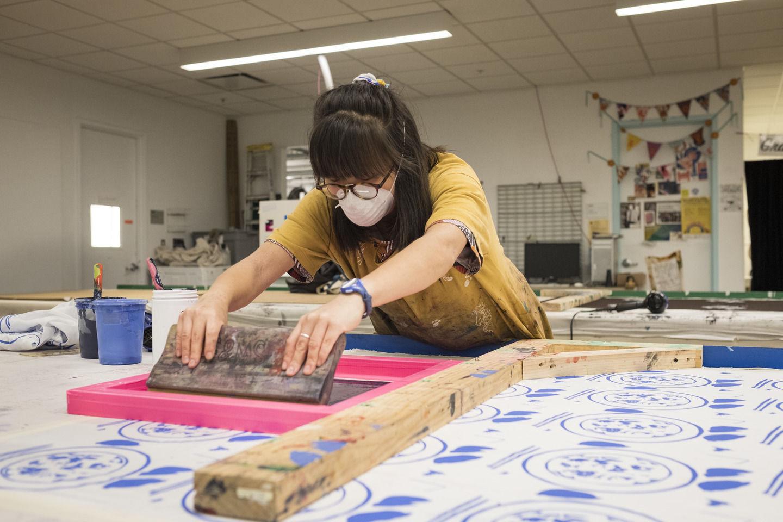 Tyler School of Art and Architecture student in Fibers Studio