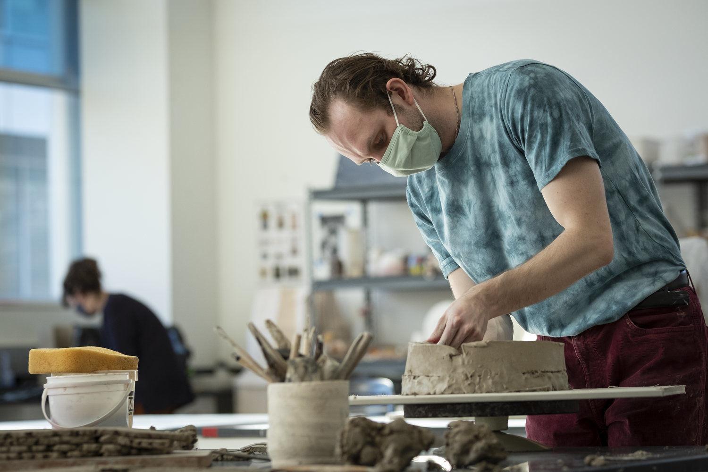 Tyler School of Art and Architecture student in Ceramics Studio