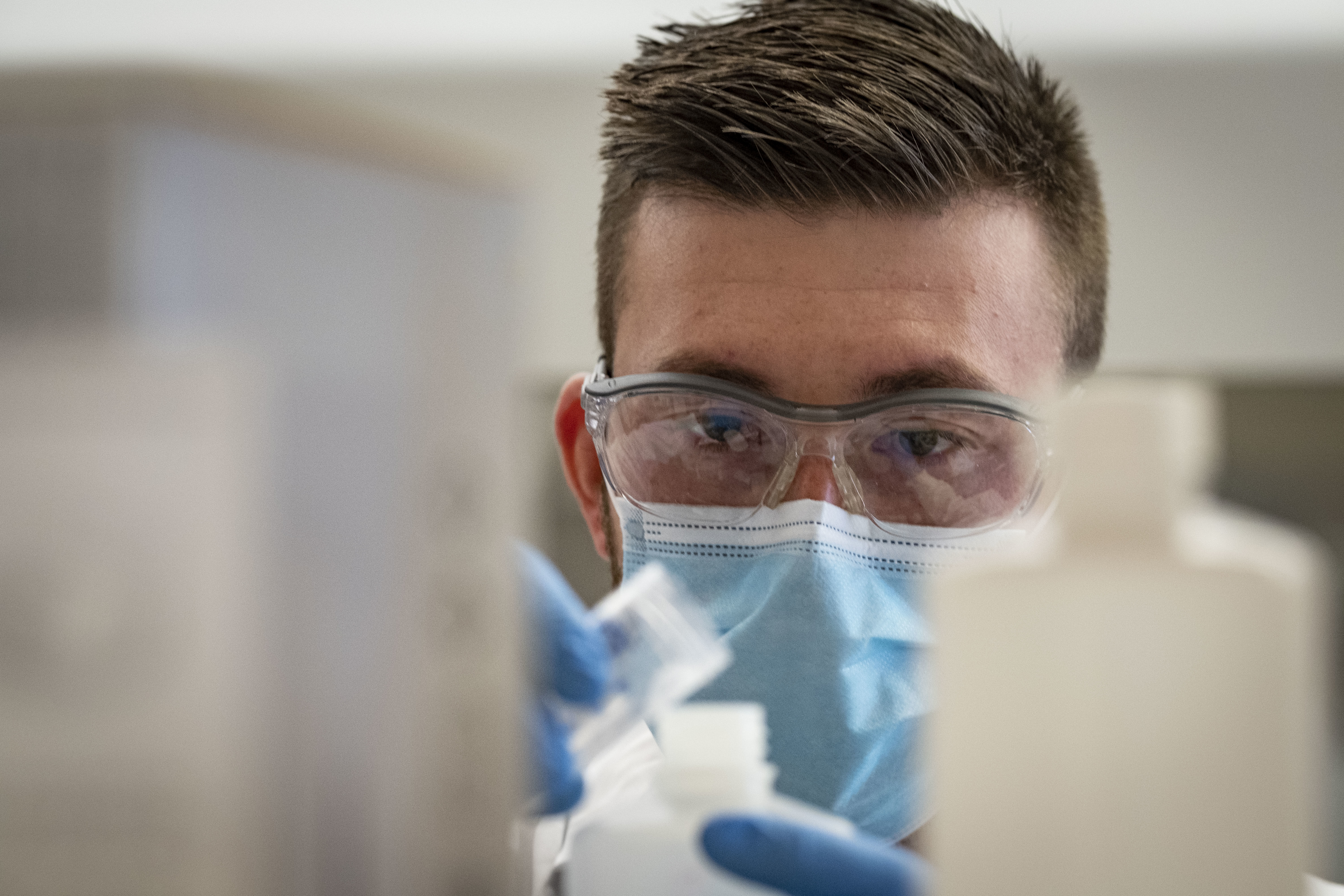 College of Science and Technology  student in lab