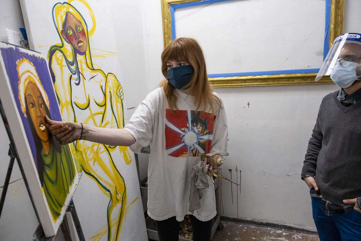 Tyler School of Art and Architecture students during painting critique