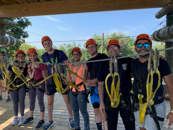 Group of Fox Students in climbing equipment