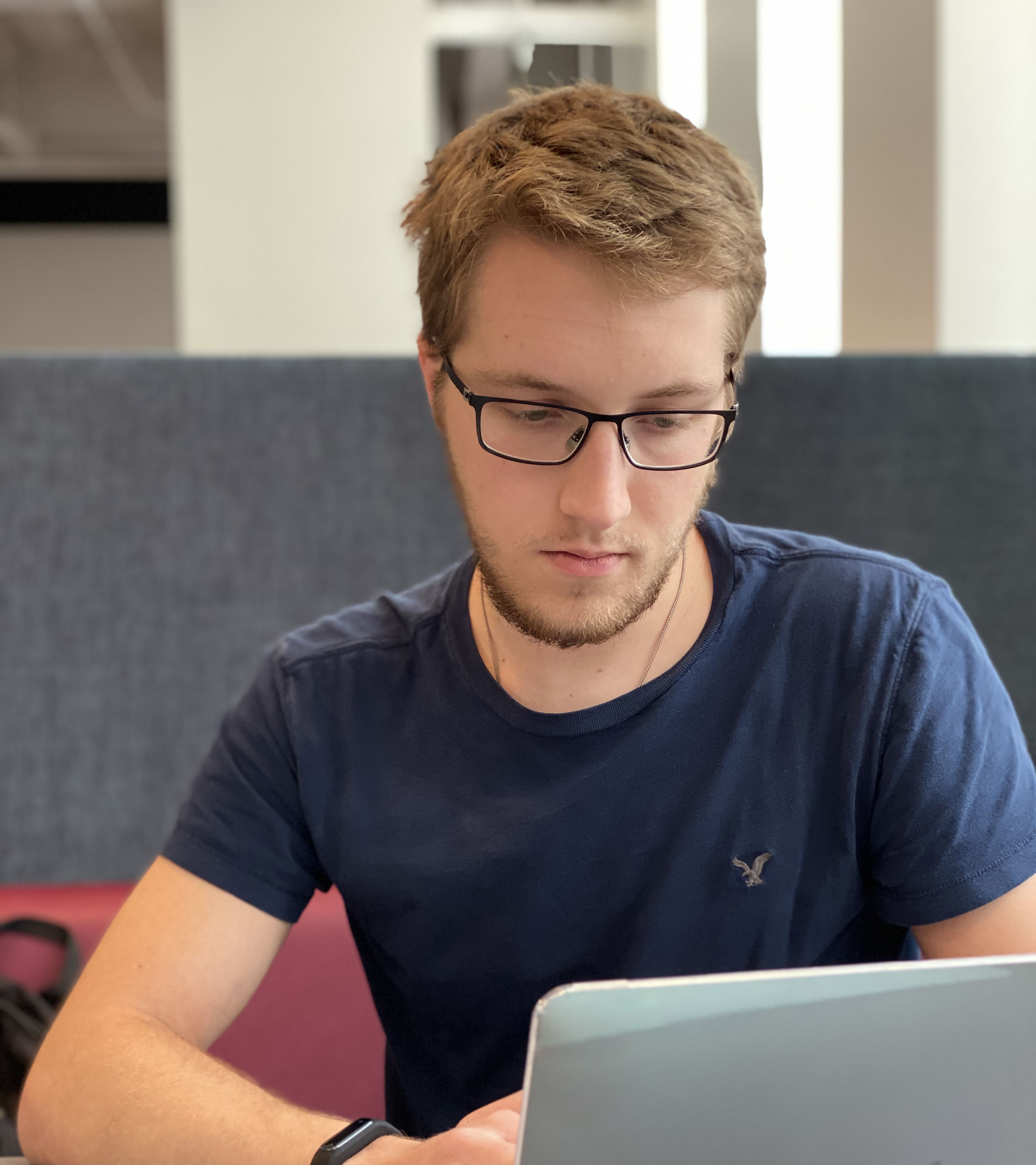 College of Science and Technology student on laptop