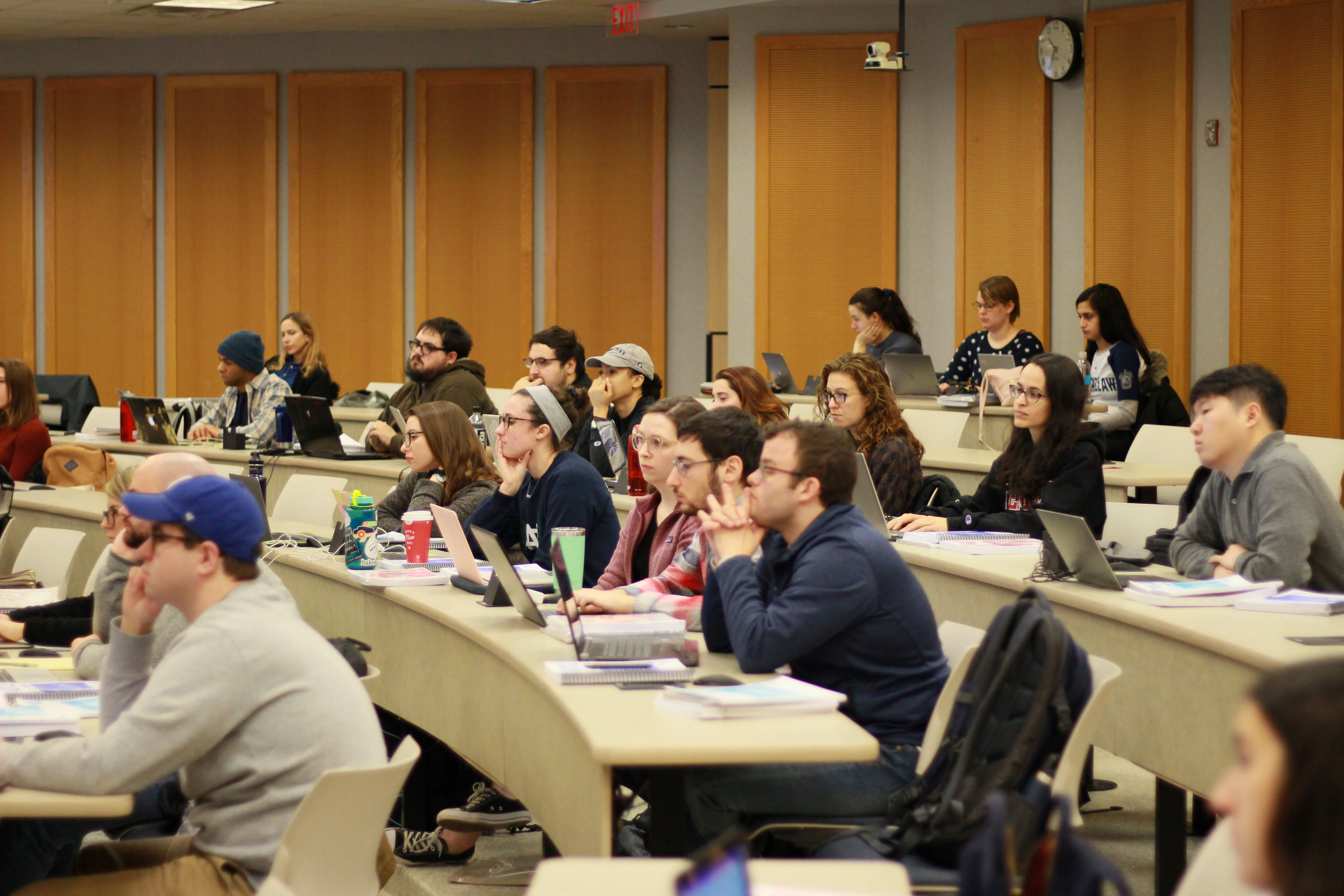 Temple Law students attend the VITA Tax Training clinic in January of 2020.